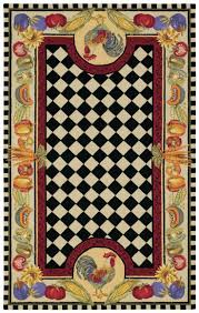 Fruit Kitchen Rugs Rooster Rugs For The Kitchen Rugs Decoration