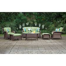 Lazyboy Outdoor Furniture Amazon Com La Z Boy Outdoor Sawyer 6 Piece Resin Wicker Patio
