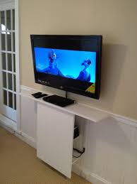 wooden shelves ikea tv wall mount shelves ikea white stained wooden shelf with cable