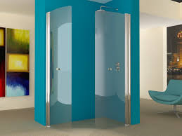 our hinged wet room screens can be used in pairs to form fold away
