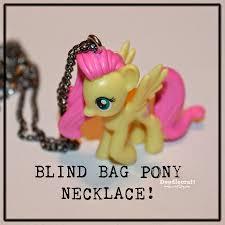 doodlecraft blind bag fluttershy pony necklace