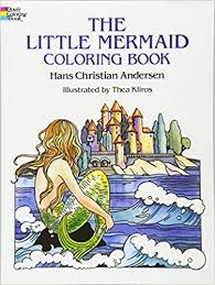 mermaid coloring book dover classic stories coloring