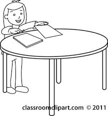 Student Desk Clipart Papers On Desk Clipart
