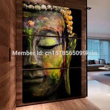 Buddha Home Decor Aliexpress Com Buy 3 Panel Wall Art Religion Buddha Style