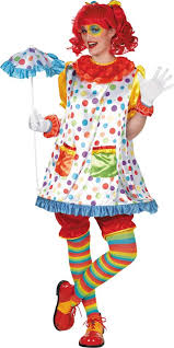 Womens Clown Halloween Costumes Clown Costume Party Cute