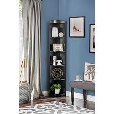 coaster corner bookcase furniture of america corner 5 shelf display stand bookshelf