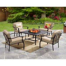 Patio Table With Firepit Pit Patio Set Ebay