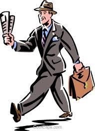 clipart uomo uomo cammina con un giornale immagini grafiche vettoriali