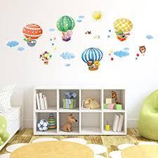 heißluftballon kinderzimmer decowall da 1406b tierheißluftballons heißluftballons flugzeuge