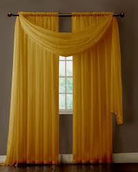Yellow Window Curtains Warm Home Designs Pair Of Caramel Gold Sheer Curtains Or