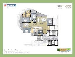 omaxe forest spa floor plan and proposed finished look
