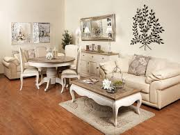 wood living room furniture distressed painted antique white and