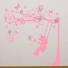 girls wall art wall art design baby girl nursery wall art little girl on a swing wall sticker by almo wall art notonthehighstreet