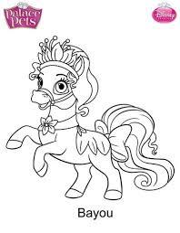 palacepetscoloring cute princess palace pets coloring pages