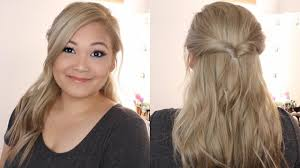 the easiest half up half down hairstyle ever youtube