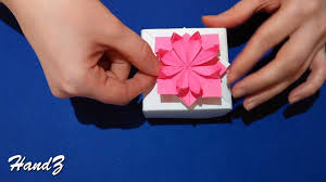 How To Make Decorative Gift Boxes At Home Origami Flower 3d Paper Flower Great Decor For Gift Box House