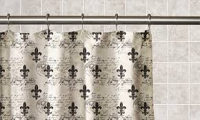 Fleur De Lis Curtains Fleur De Lis Printed Peva Shower Curtain Groupon