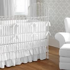 Plain Crib Bedding White Baby Bedding Solid White Crib Bedding Carousel Designs