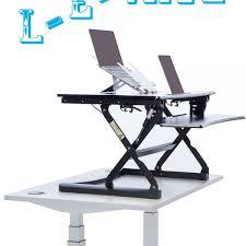 Desk Risers Uk L E Vate Standing Desk Online Ergonomics