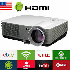 led home theater projector 1080p ht1 smart 3d home theater wifi led android 4 4 true 3000 lumens