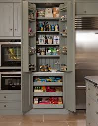 kitchen pantry cabinet shallow shelves on top complemented by