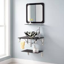 bathrooms design best bathroom mirror with glass shelf decor