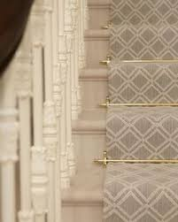natural wood on tartan wow tudor stair rods from carpetrunners