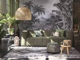 interiors canapé canapé vert plantes jungle interior green sofa hk living