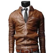 brown motorcycle jacket men u0026 039 s fashion jackets collar slim motorcycle leather jacket