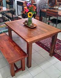 Teak Wood Dining Tables Teak Dining Table 3 Foot X 5 Foot With 4 Legsimpact Imports
