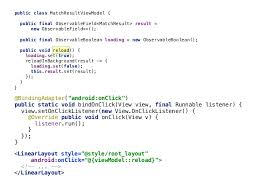 layout onclicklistener android data binding in action using mvvm pattern