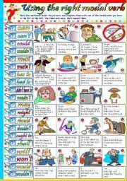 modal verb for kid exercise worksheet teaching the kids esl efl