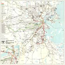 Maps Massachusetts by 1967 Massachusetts Bay Transport Authority System Map By The
