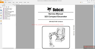 bobcat excavators 323 6986958 service manual 2 08 auto repair