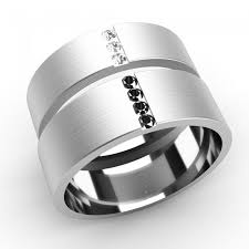 his and wedding rings his and hers wedding ring set his band set with black diamonds