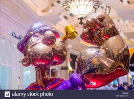the jeff koons popeye sculpture display at the wynn hotel in las