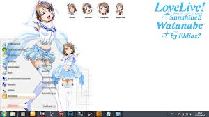 live themes windows 7 theme win 7 love live sunshine watanabe you by eldiaz7 rf