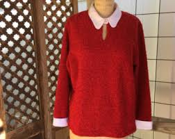 red sweater etsy