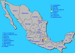 map of mexico with states mexico map with city names