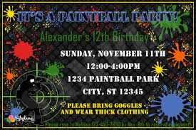 Party Invitations Cards Paintball Party Invitations Theruntime Com