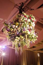 Wedding Flowers For Guests Floral Fixtures From Weddings Suspended From The Ceiling Inside