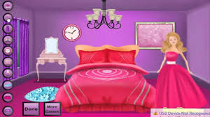 barbies bed room decor games for kids 1 youtube