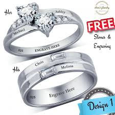his and rings set his and promise rings couples promise ring set promise rings