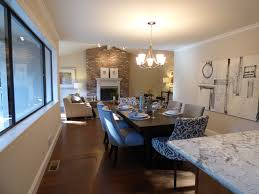 Contemporary Dining Room With Chandelier By Brian Lee Zillow - Damask dining room chairs