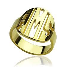 monogram rings gold gold color monogram initials ring personalized monogram ring