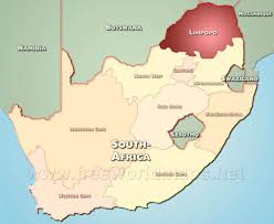 South Africa On Map by Limpopo Map South Africa