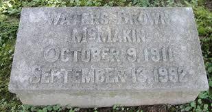 waters brown mcmakin 1911 1992 find a grave memorial