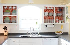 how to build your own kitchen cabinets fabric backed open kitchen cabinets diy on a dime the tutorial