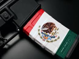 Flag With Ak 47 Mexico Flag Vertical Ar 15 30 Round Magpul Pmag Mag Wraps
