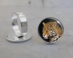 amazon com jaguar animal adjustable ring handmade